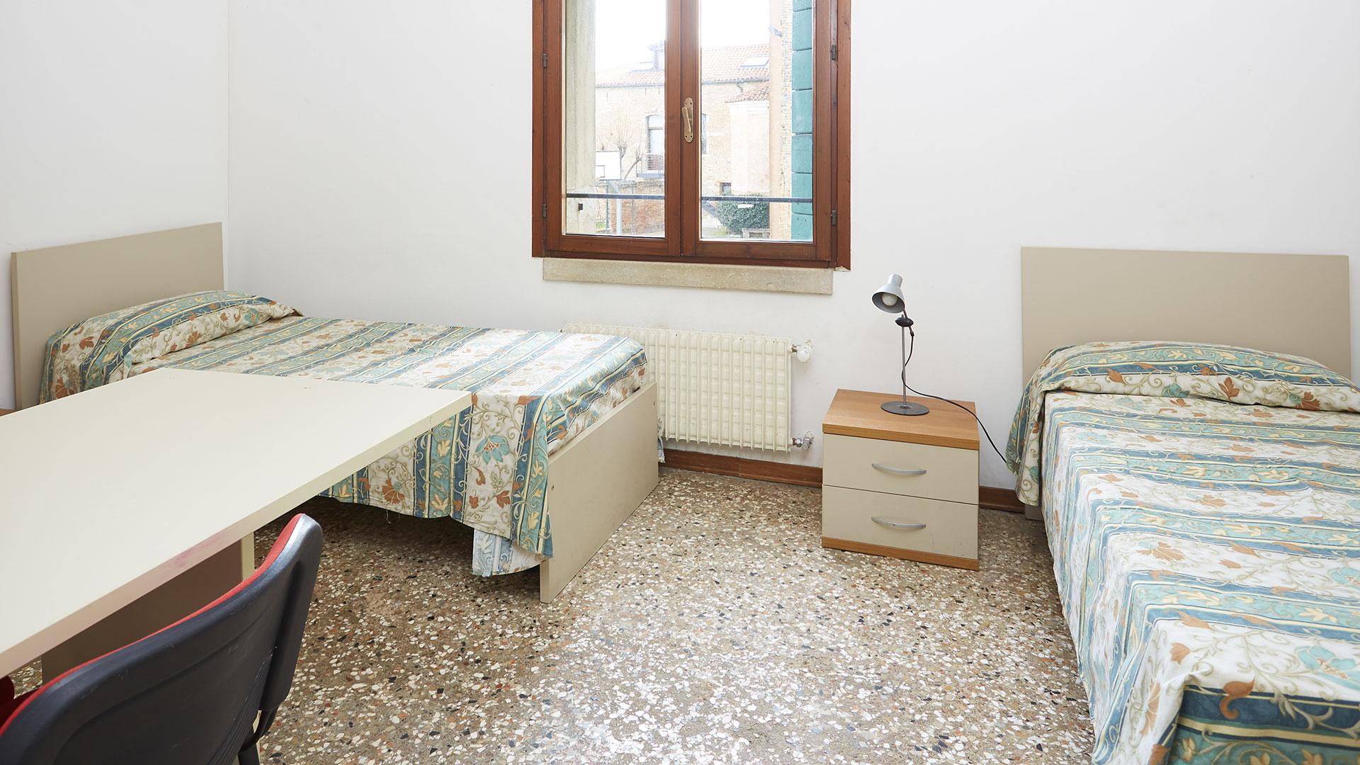 camera doppia collegio bagno privato